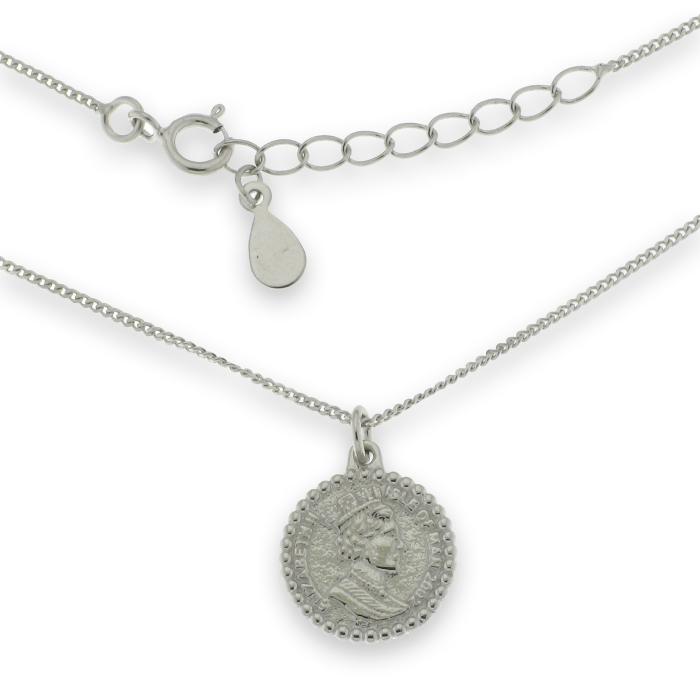 Colgante de plata con medalla incluye cadena de plata